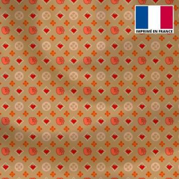 Satin or motif petit monogramme coeur Le Loulou de Solliès-Pont - Anne-Sophie Dozoul