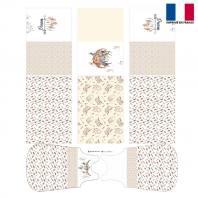Coupon velours d'habillement motif boho - Gigoteuse et Tour de Lit