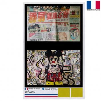 Kit pochette canvas motif Love - Création Anne-Sophie Dozoul
