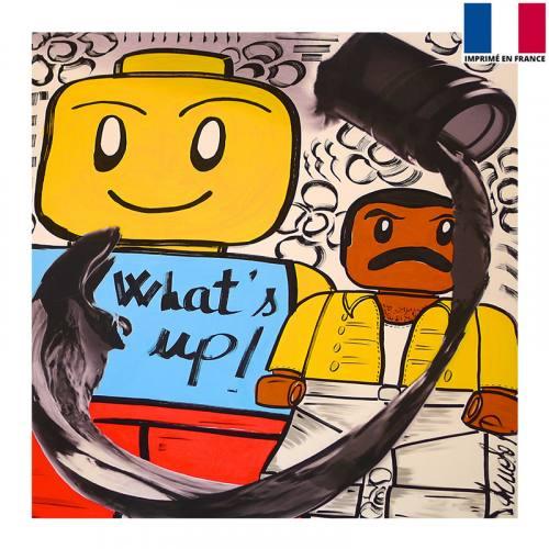 Coupon 45x45 cm - What' s up ! - Création Anne-Sophie Dozoul
