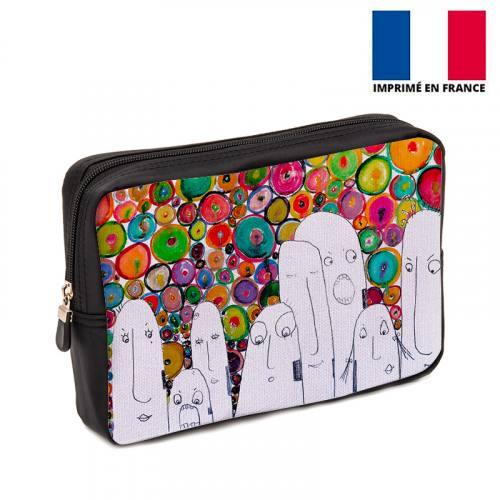 Coupon 30x20 cm - Toile canvas motif Multicolore - Création Jeanne Garreau