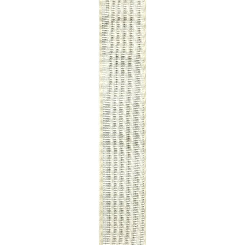 Elastique ceinture métal argenté 40 mm crème