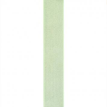 Elastique ceinture métal argenté 40 mm vert d'eau
