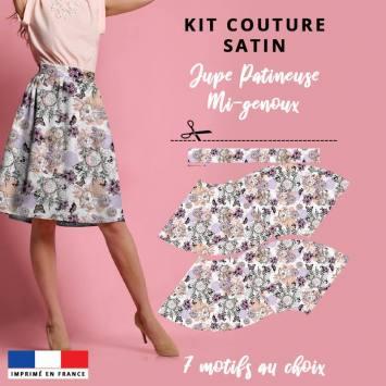 Kit Jupe Patineuse Mi-Genoux - Collection Automne 2020 - Satin