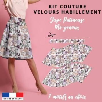 Kit Jupe Patineuse Mi-Genoux - Collection Automne 2020 - Velours d'habillement