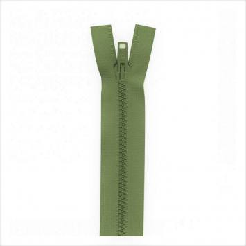 Fermeture injectée vert militaire 45 cm séparable col 999