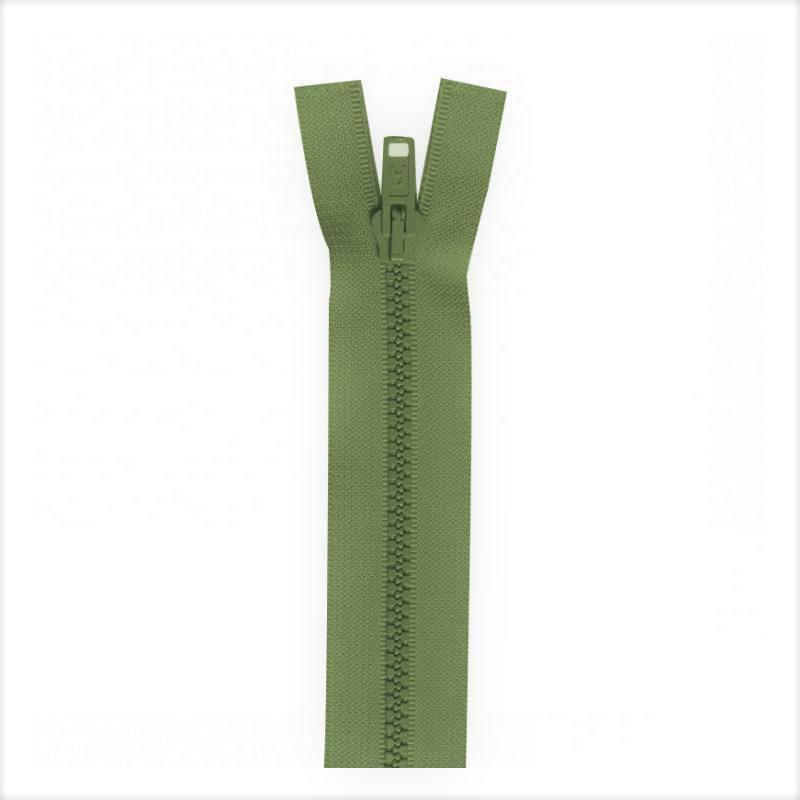 Fermeture injectée vert militaire 50 cm séparable col 999
