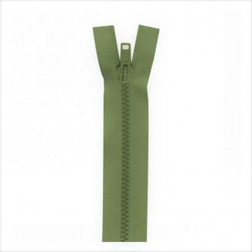 Fermeture injectée vert militaire 75 cm séparable col 999