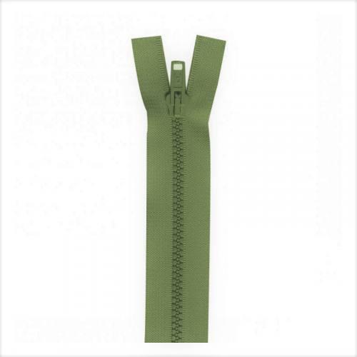 Fermeture injectée vert militaire 60 cm séparable col 999