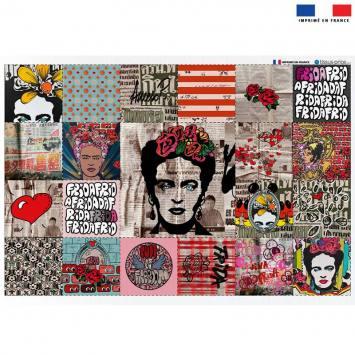 Coupon éponge pour lingettes démaquillantes motif femme mexicaine - Création Anne-Sophie Dozoul