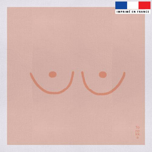 Coupon 45x45 cm motif Seins - Création by Tonckka