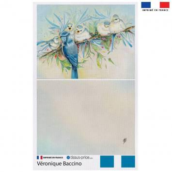 Kit pochette motif oiseaux - Création Véronique Baccino