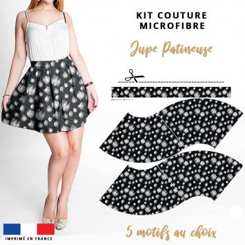 Kit Jupe Patineuse Courte - Collection Noël - Microfibre