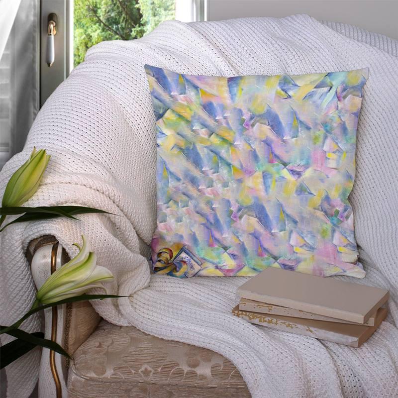 Coupon 45x45 cm motif peinture multicolore - Création Véronique Baccino