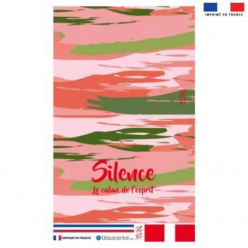 Kit pochette motif Silence - Création Chaylart