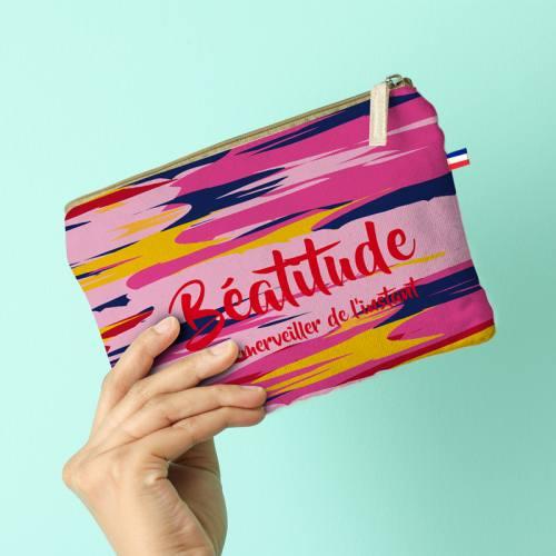Kit pochette motif Béatitude - Création Chaylart