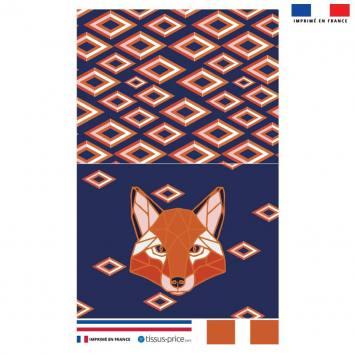 Kit pochette bleue motif renard