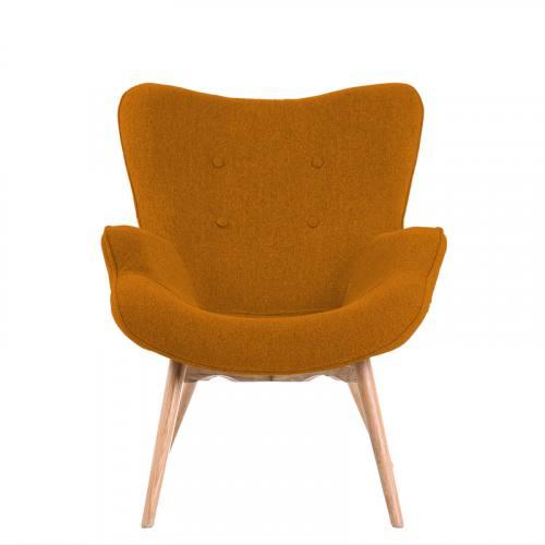 Tissu caban d'ameublement orange