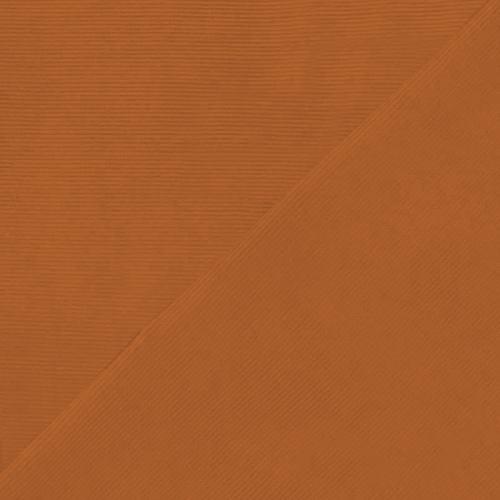 Tissu velours milleraies orange