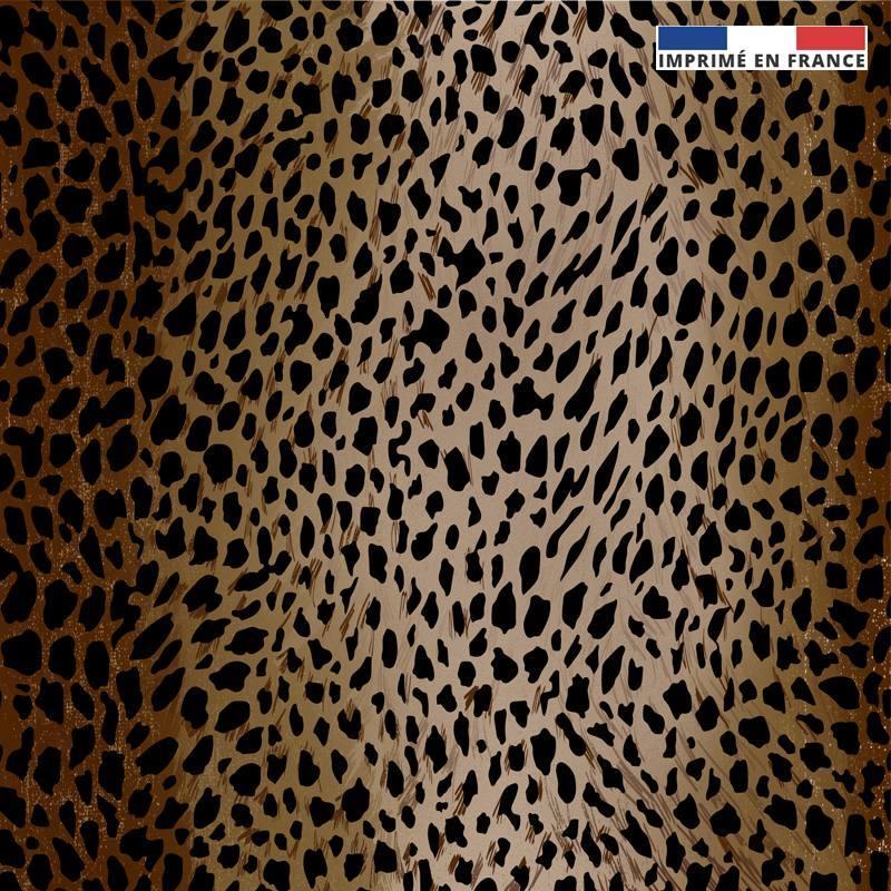 Maille scuba marron imprimée léopard dégradé