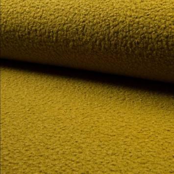 Tissu lainage bouclé ocre