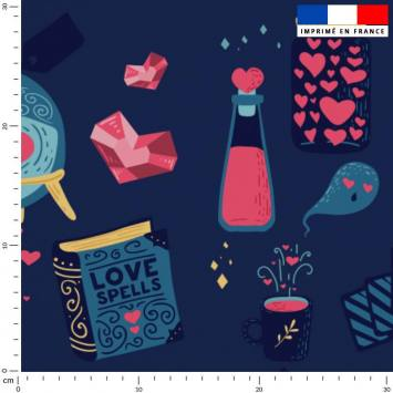 Love fantôme - Fond bleu