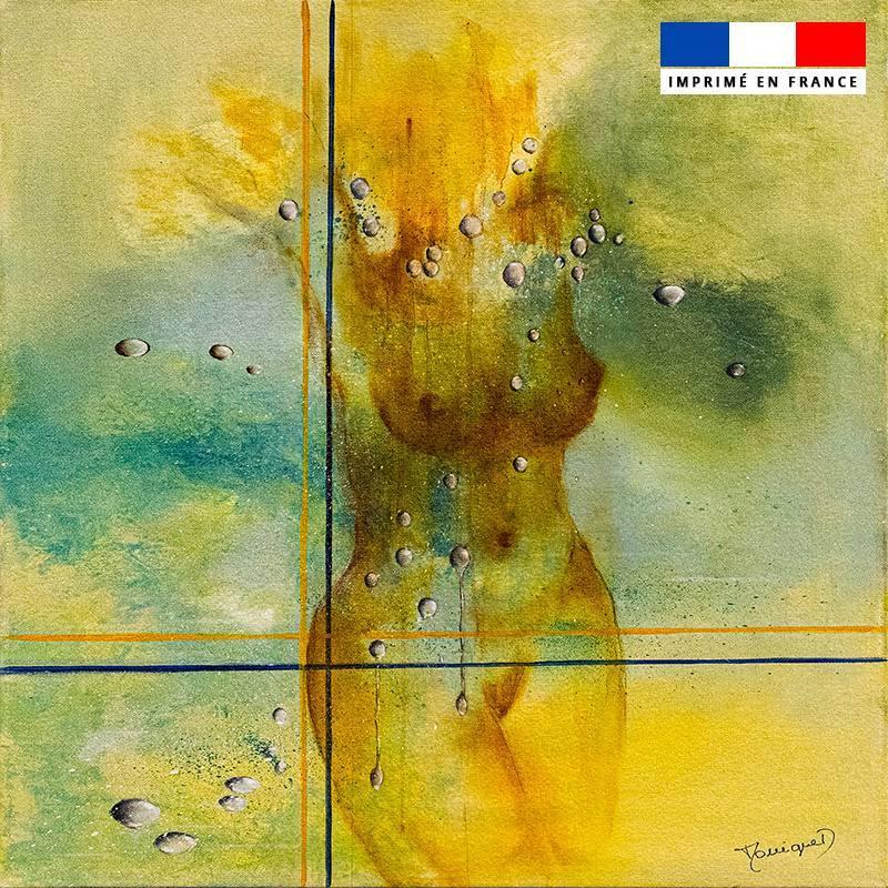 Coupon 45x45 cm motif Après la pluie - Création Monique.D