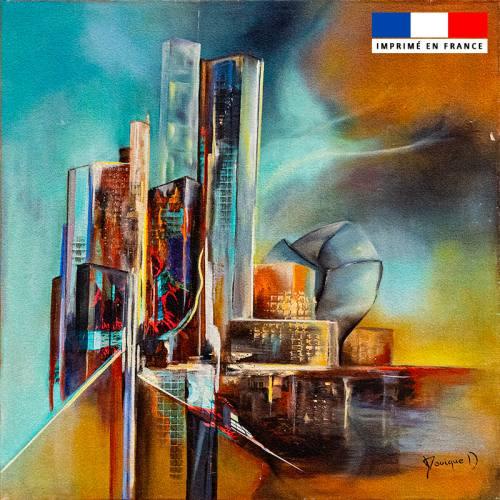 Coupon 45x45 cm motif Vapeurs de Futur - Création Monique.D