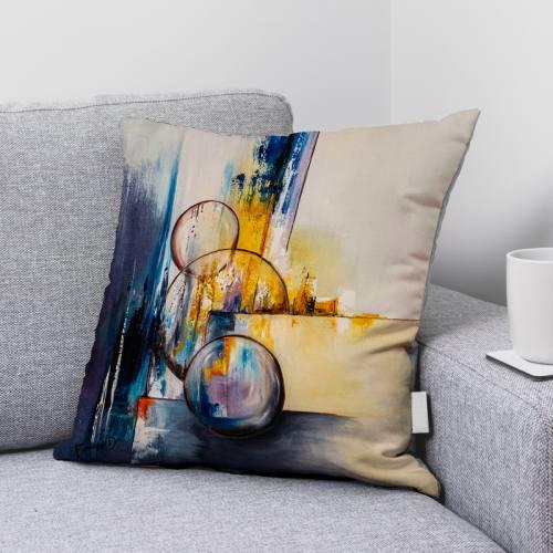 Coupon 45x45 cm motif Boule et Bulles - Création Monique.D