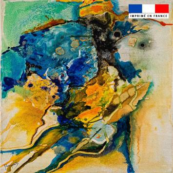 Coupon 45x45 cm motif Végétal - Création Monique.D