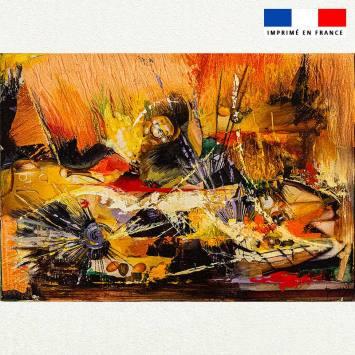 Coupon 50x35 motif Concerts de feu ! - Création Monique.D