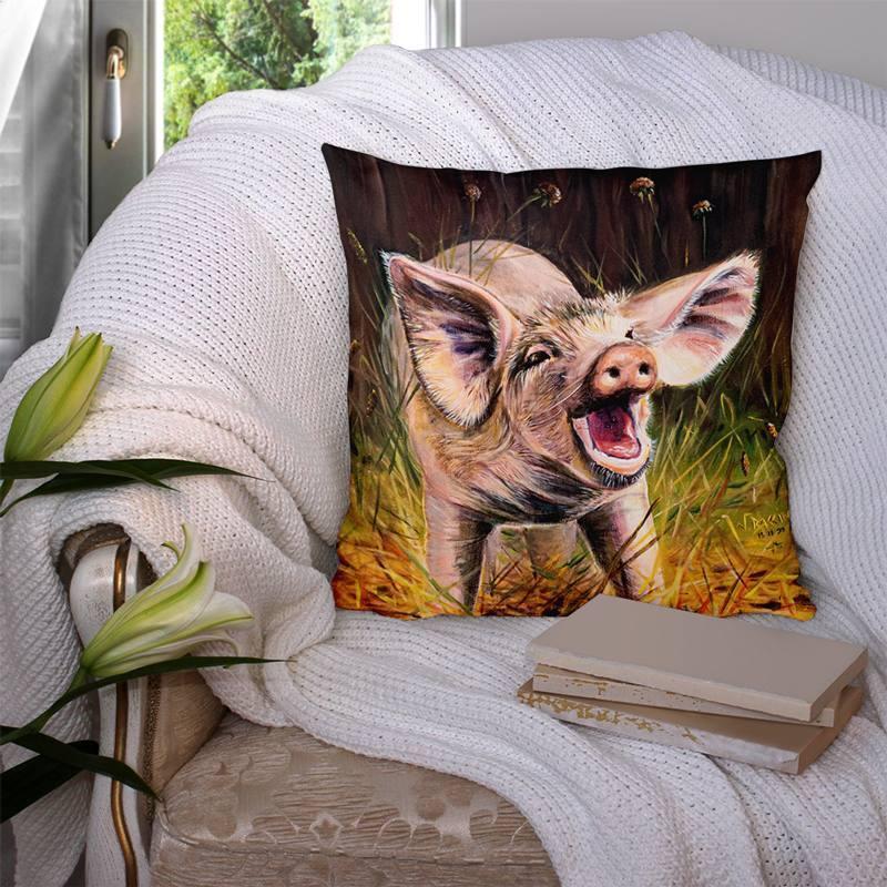 Coupon 45x45 cm motif cochon - Création Véronique Baccino