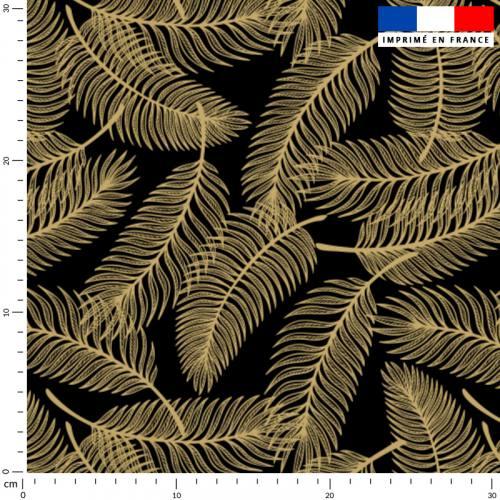 Palme jaune or - Fond noir