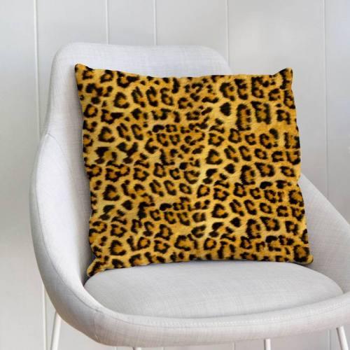 Effet fausse fourrure léopard - Fond jaune