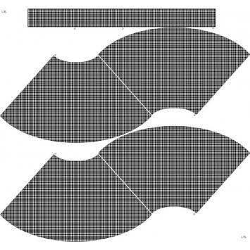Kit Jupe Courte - Pied de poule noir et blanc