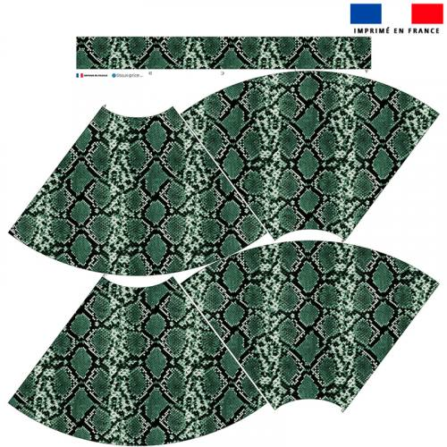 Kit Jupe Mi-Genoux - Peau de serpent verte