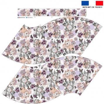 Kit Jupe Mi-Genoux - Attrape-rêve et papillon violet et vert