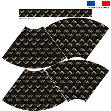 Kit Jupe Mi-Genoux - Paon art déco
