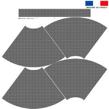 Kit Jupe Mi-Genoux - Pied de poule noir et blanc