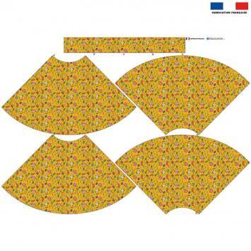Kit Jupe Enfant - Fleurs jungle safran