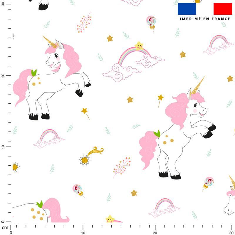 Licorne et arc-en-ciel - Fond blanc