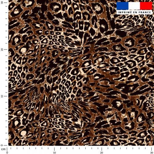 Imitation léopard - Fond marron