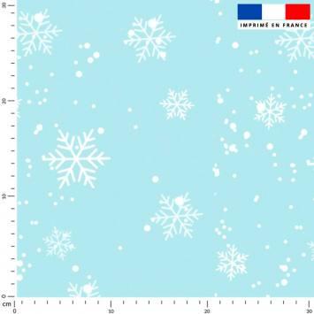Flocon de neige - Fond bleu glacier