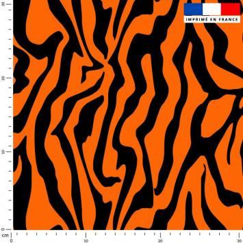 Tigré orange et noir