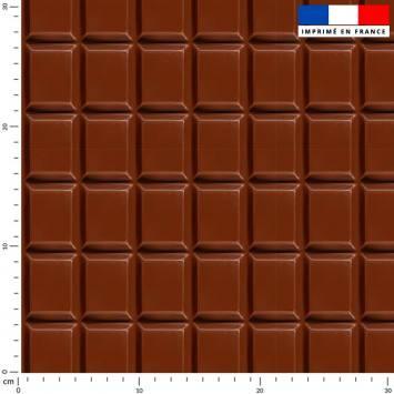 Tablette de chocolat - Fond marron