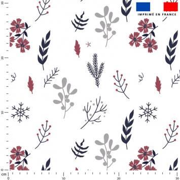Fleurs d'hiver - Fond écru