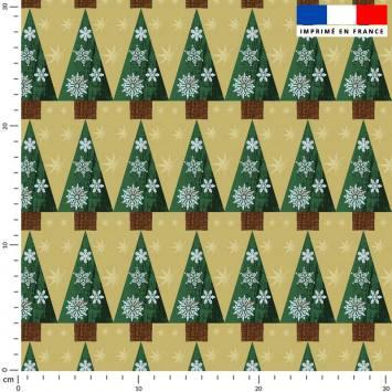Noël grand sapin - Fond vert anis