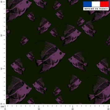 Poisson violet - Fond noir