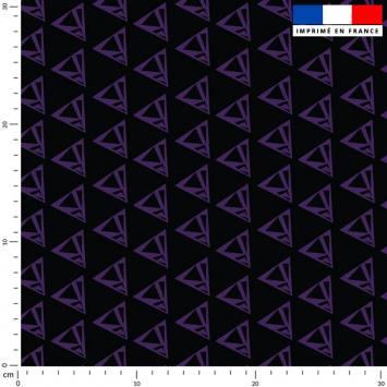 Triangle violet - Fond noir