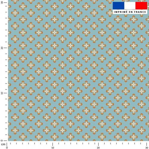 Petite fleur vintage seventies - Fond bleu ciel